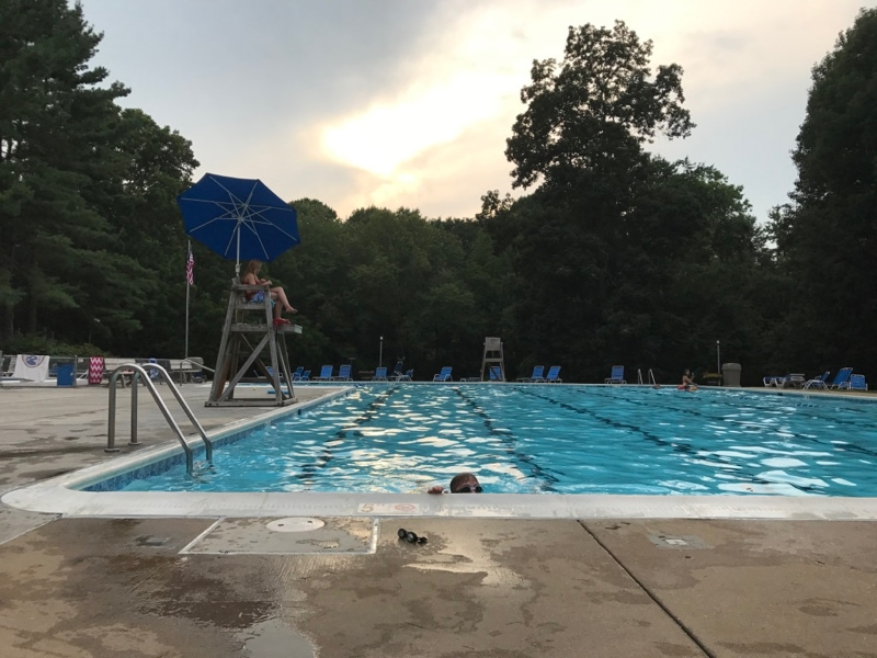 Evenings at the pool