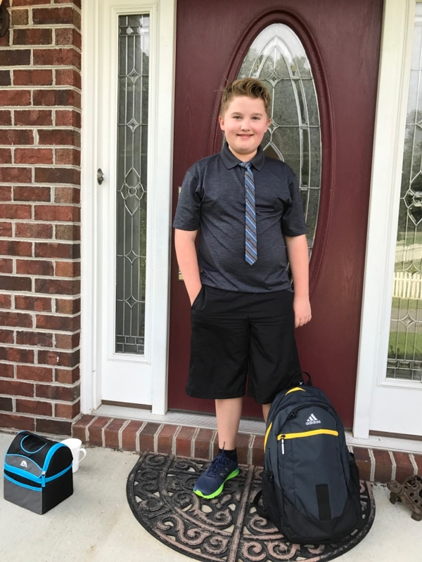 First day of school - everything is organized so neatly!
