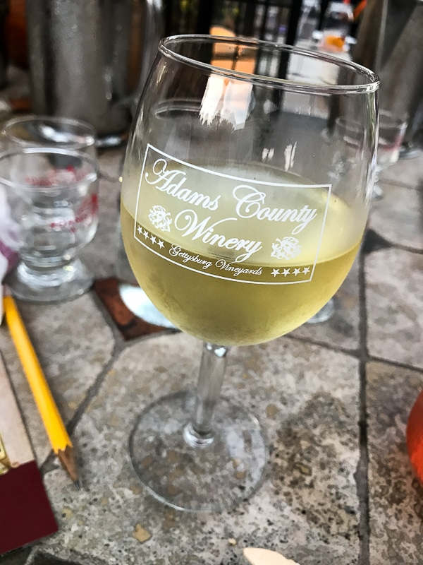 Adams County Winery tasting