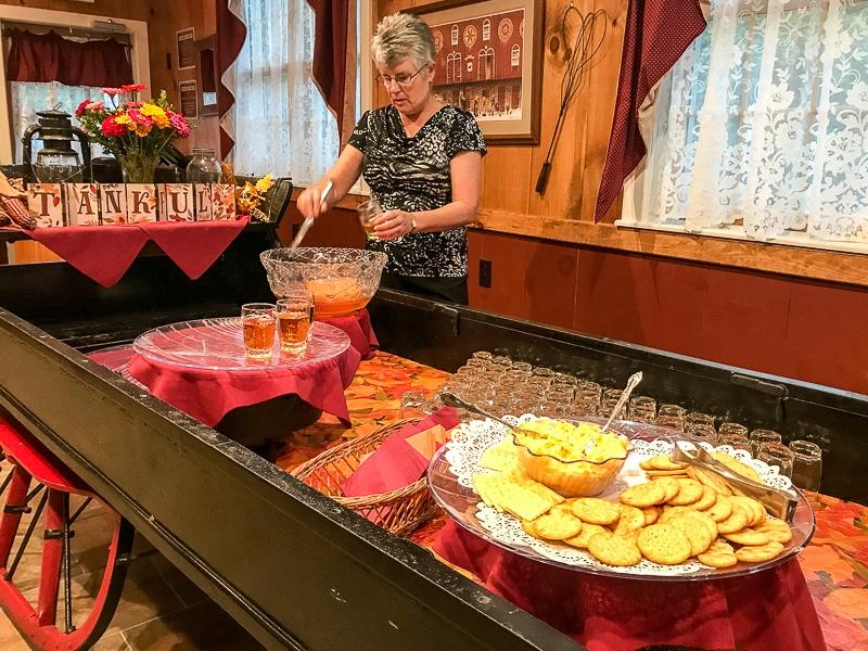 Appetizers at Hickory Bridge Farm
