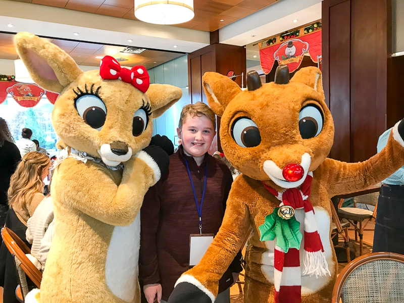 Evan with Clarice and Rudolph