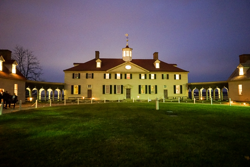 Mount Vernon by candlelight