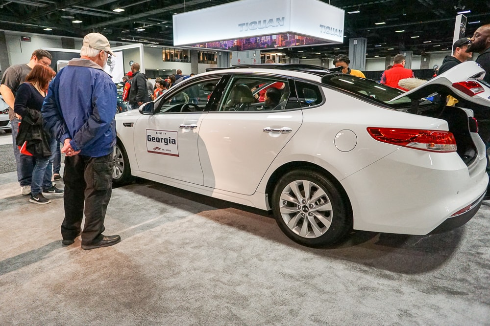 Kia Optima at the Washington Auto Show