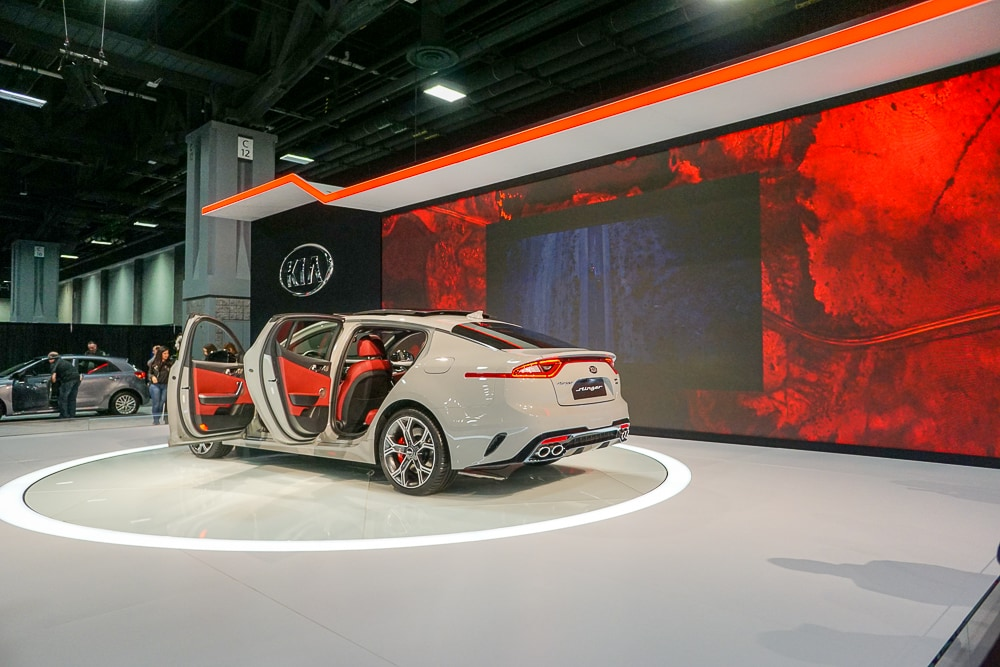 Kia Stinger on stage - Washington Auto Show