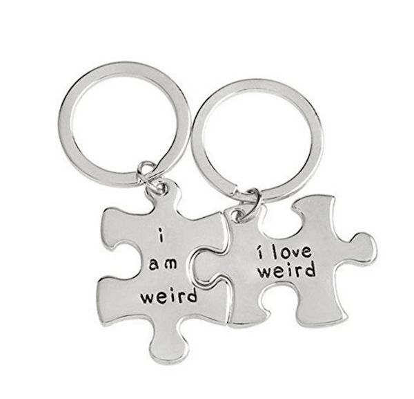 I am weird keychain