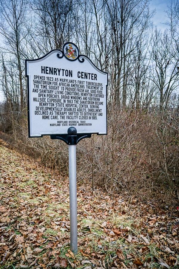 Henryton Center sign