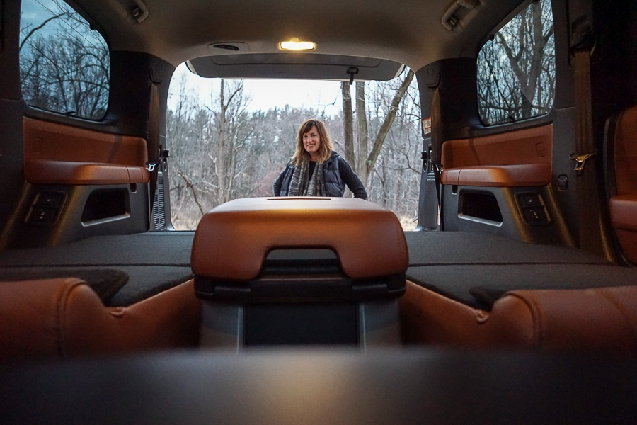 All seats down in the Toyota Sequoia