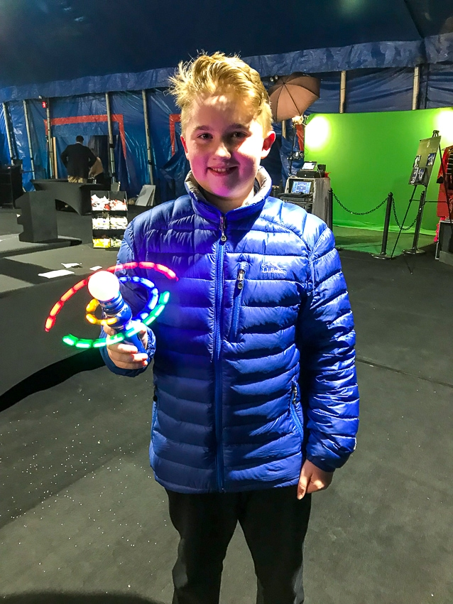Flashing light at Big Apple Circus