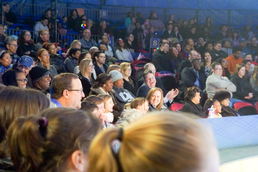 The smiling crowds at Big Apple Circus