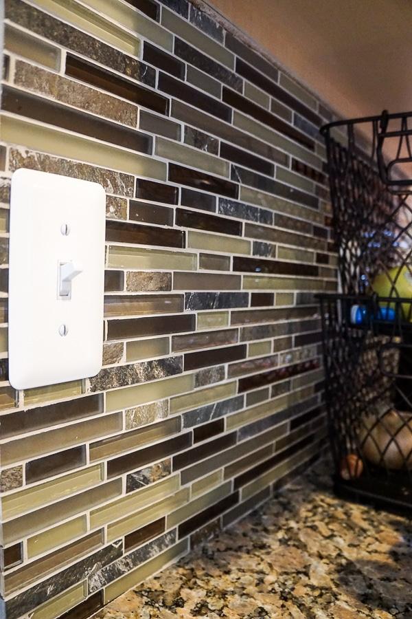 My tile backsplash in the kitchen