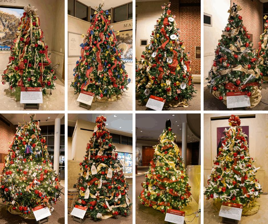 Christmas trees at Mount Vernon