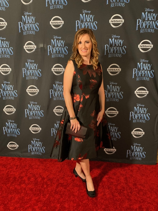 Fadra on the red carpet for Mary Poppins Returns