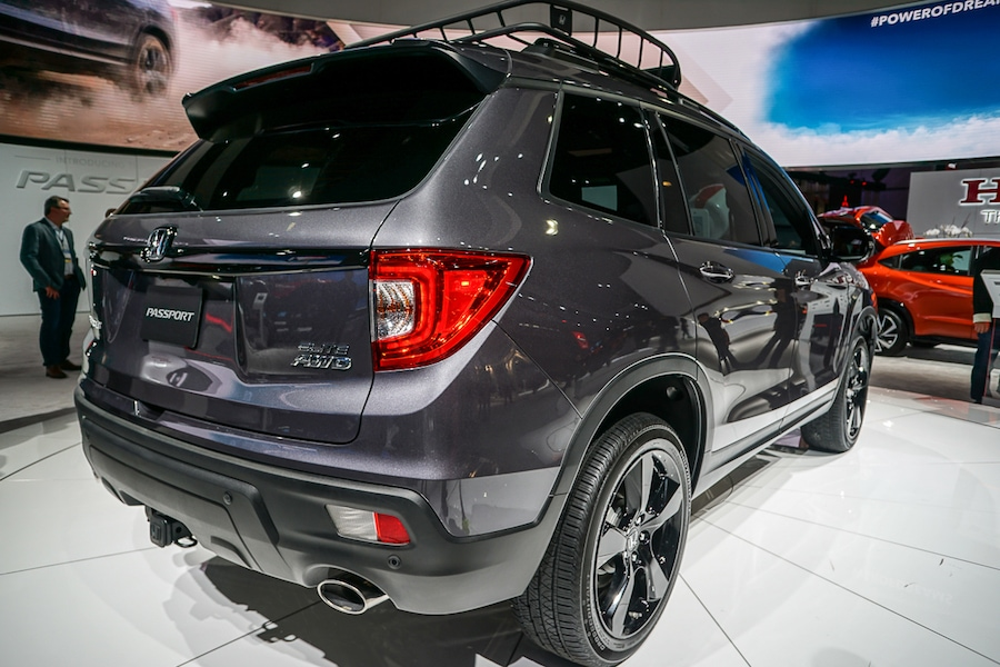 LA Auto Show-Honda Passport rear