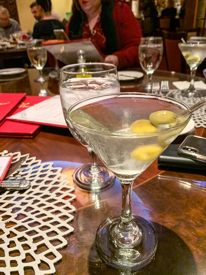 Dirty Vodka Martini at Char's Tracy Mansion