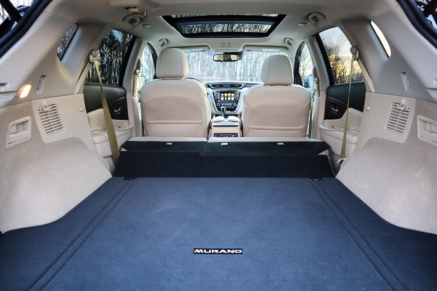 Nissan Murano cargo space with seats folded flat