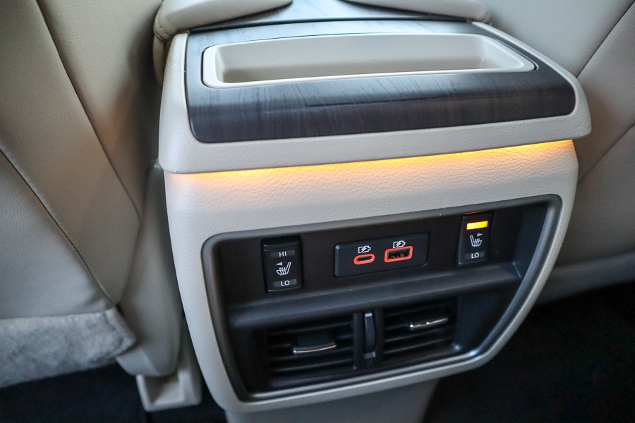 Nissan Murano rear seat connections