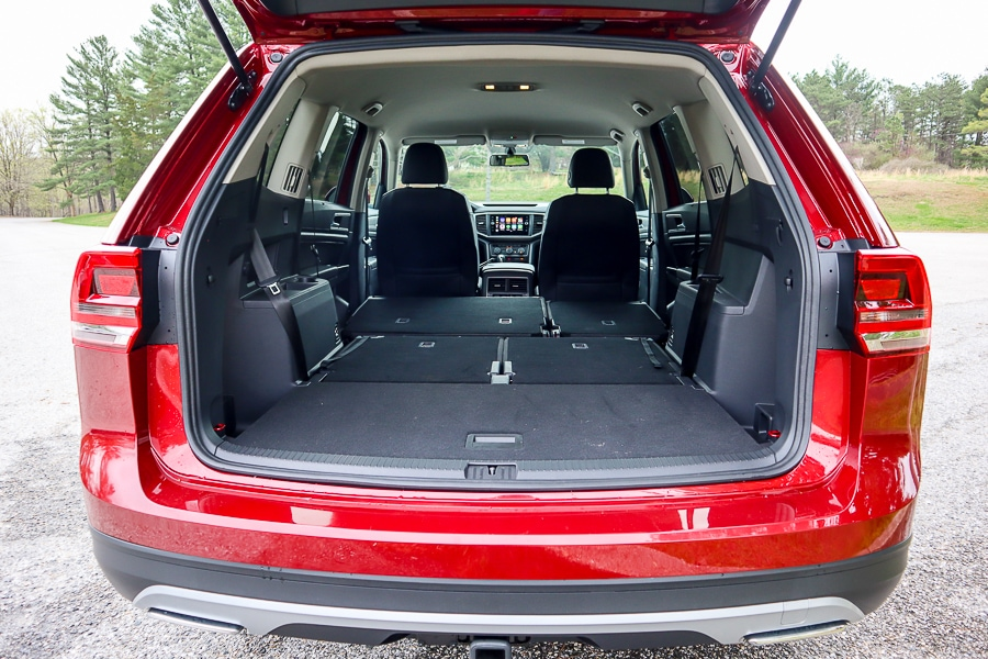 VW Atlas full cargo space