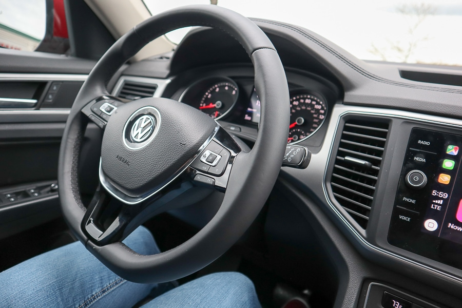 VW Atlas steering wheel