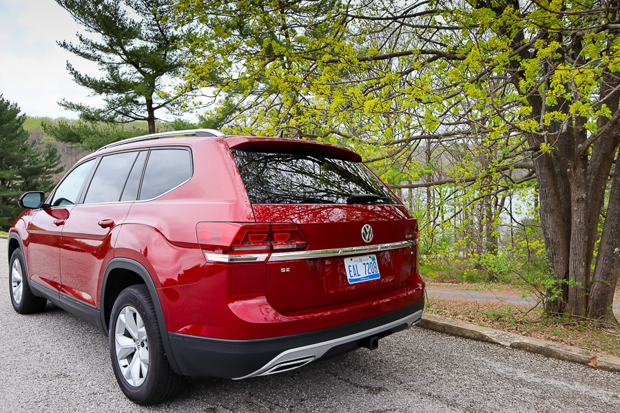 VW Atlas from the rear