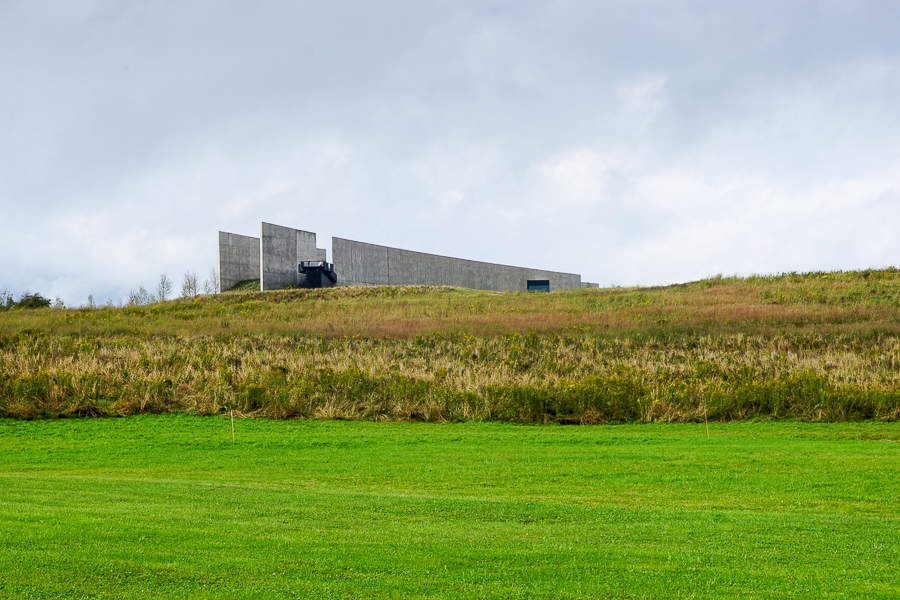 Flight 93 Memorial view of the visitor complex