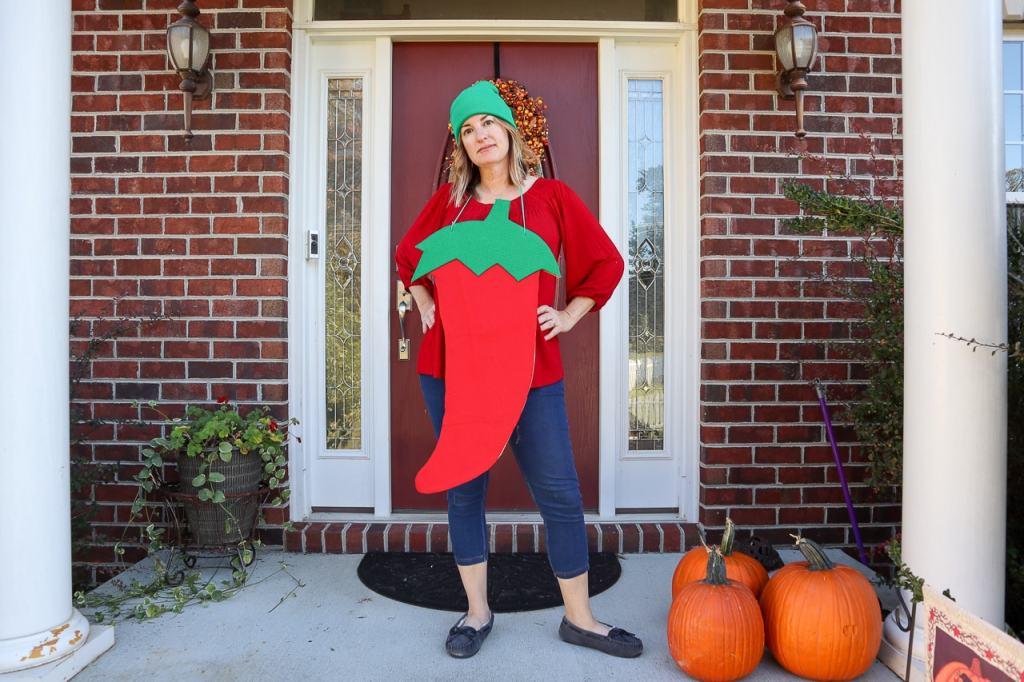 DIY Chili Pepper Costume