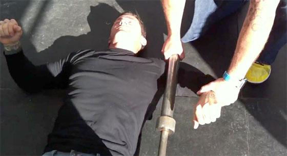 Shoulder Barbell Massage Mobility SMR