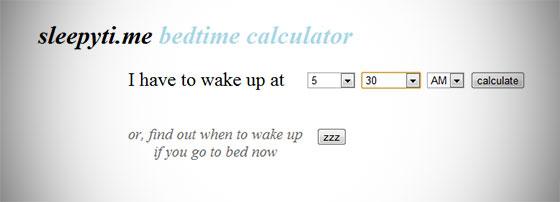 Sleepy Time Sleep Time Calculator