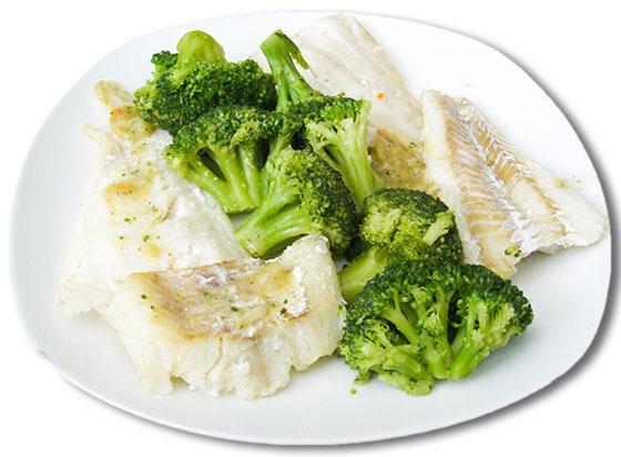 cod broccoli rest day dinner