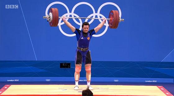 Natalya Zabolotnaya 131kg Snatch Olympic Record