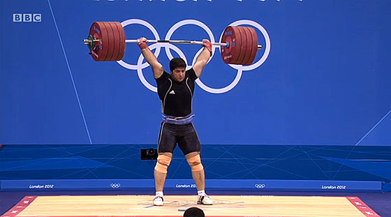 Navab Nasirshelal 227kg Clean Jerk London 2012