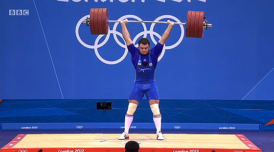 Oleksiy Torokhtiy 227kg Clean Jerk London 2012