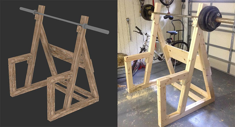 Wooden Squat Rack Plan Result