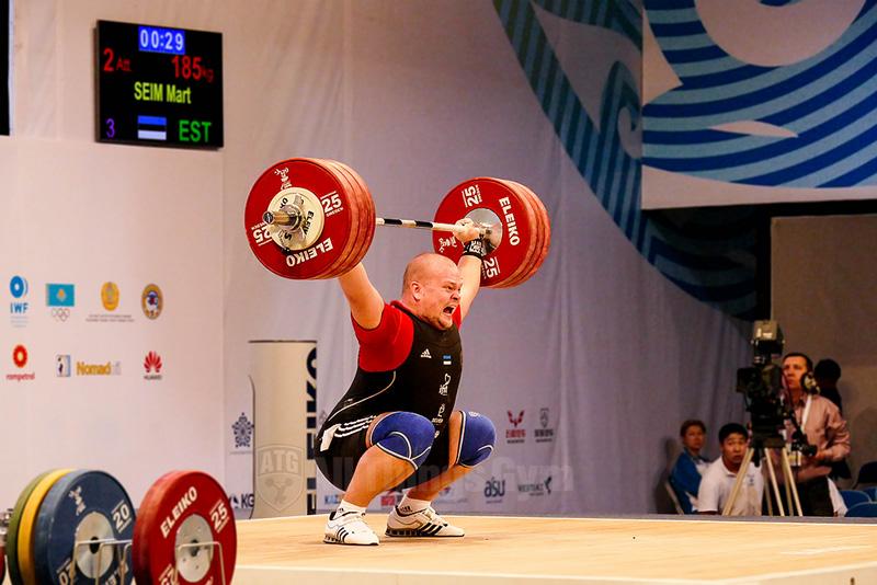 mart seim 185kg snatch almaty world championships