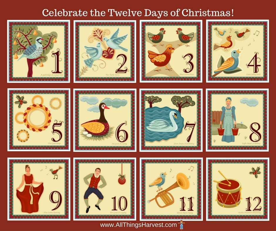 All Things Harvest Christmas Traditions Twelve Days Of