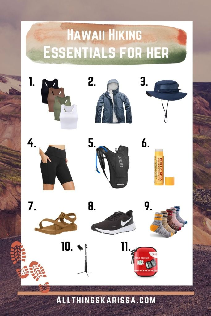 Hawaii Hiking Essentials for Her