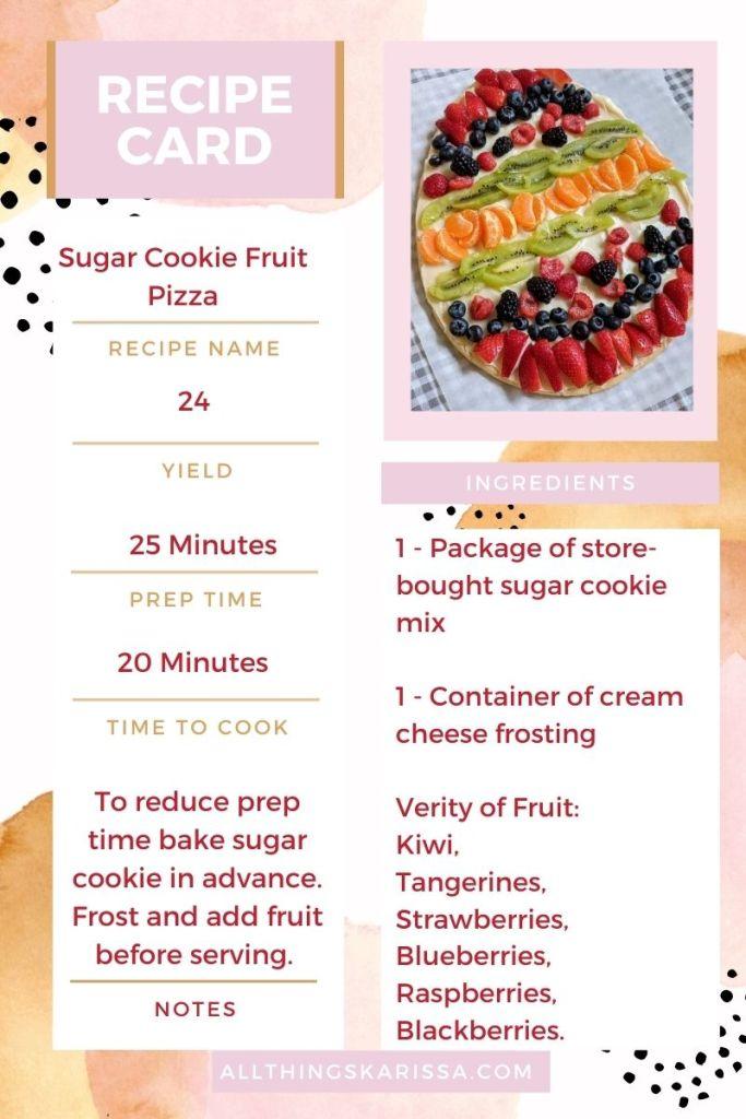 Sugar Cookie Recipe Card