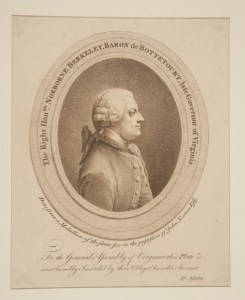 The Right Honorable Norborne Berkeley, Baron de Bottetourt, late Governor of Virginia (1774). Source: Yale University Art Gallery