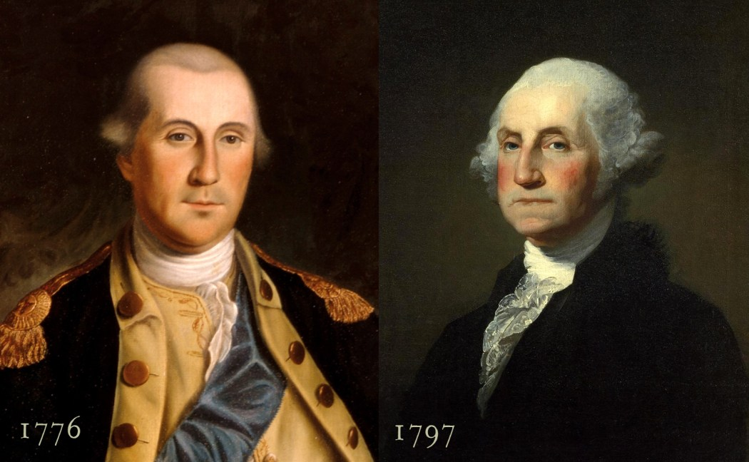 George Washingtion in 1776 and 1797