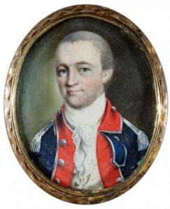 Benjamin Tallmadge; portrait miniature by John Ramage. Source: Litchfield Historical Society
