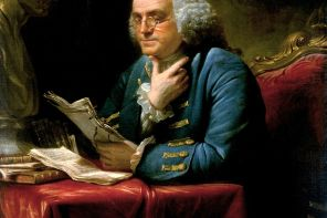 1767 portrait of Benjamin Franklin. Current location: White House