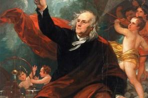 Benjamin Franklin Drawing Electricity from the Sky c. 1816 by Benjamin West. (Philadelphia Museum of Art)