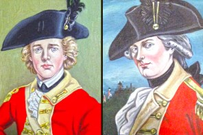 Officers of the 22nd Regiment of Foot. (Paintings by Craig A. Schermer  after originals)