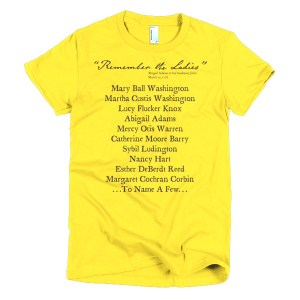 REMEMBER THE LADIES women's t-shirt (multiple colors)