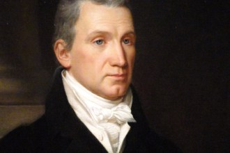 An 1816 portrait of the fifth U.S. President James Monroe by John Vanderlyn (National Portrait Gallery). Monroe was one of the fortunate Revolutionary War soldiers who was wounded, yet survived.