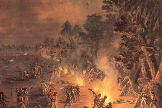 A Dreadful scene of havock by Xavier della Gatta, 1782, commissioned for a British officer who participated in the attack. (explorepahistory.com)