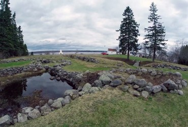 View of Fort Pownal remains today looking towards the Penobscot River. (Photo by author)