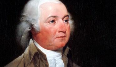 Official Presidential portrait of John Adams, oil on canvas, by John Trumbull, 1792-93.