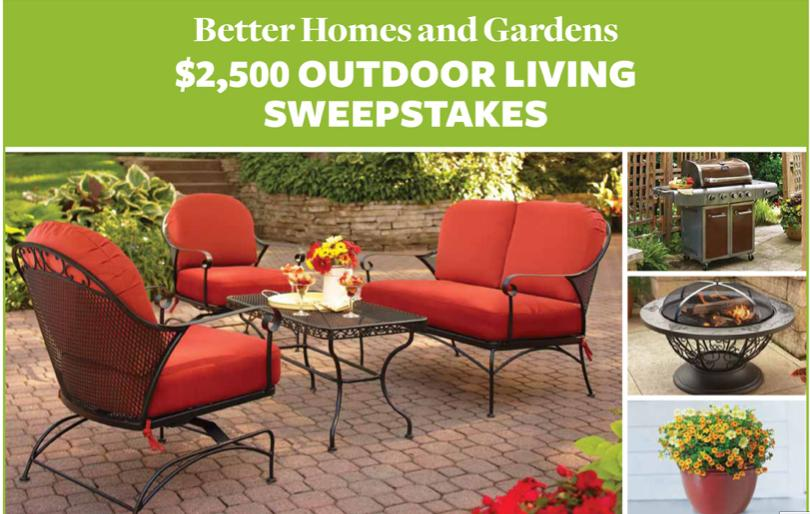 Better Homes And Gardens $2500 Outdoor Living Sweepstakes