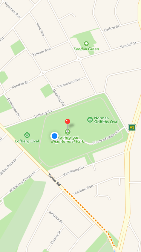 Where is Bicentennial Park Playground, West Pymble