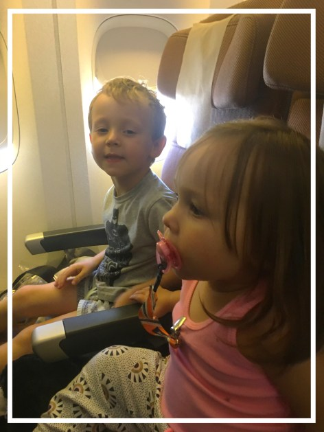 flying long distance with these two kids